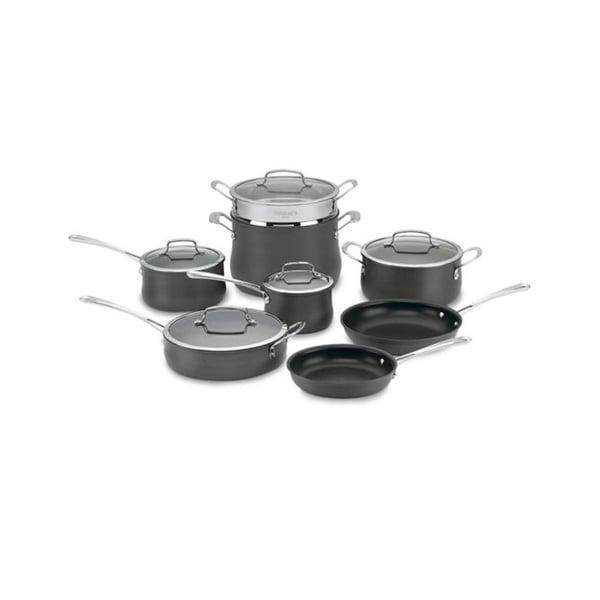 Cuisinart Contour Hard Anodized 13-Piece Dark Grey Cookware Set. Opens flyout.