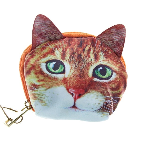 Cat Zippered Coin Purse - Multi