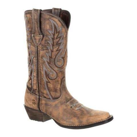 "Durango Boot Women's DRD0327 Dream Catcher 12"" Western Boot Distressed Brown/Tan Full Grain Leather"