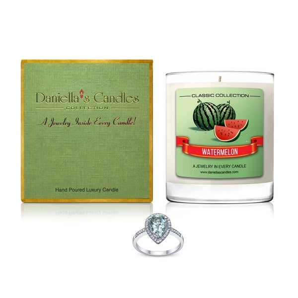 Daniella's Candles Watermelon Jewelry Candle, Ring Size 8