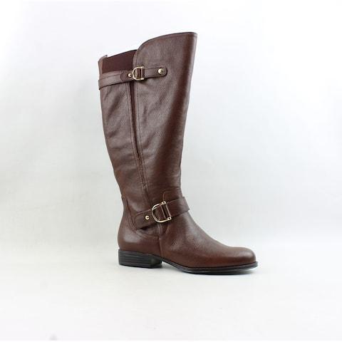 Naturalizer Womens Janelle Bridalbrown Riding Boots Size 7 (2E)
