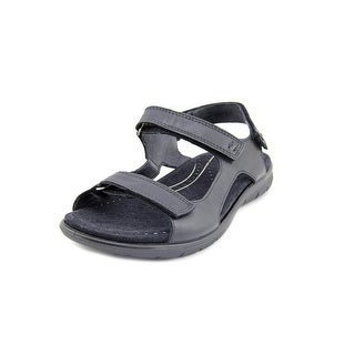 Ecco Babett Sandal 2 Strap Women Open-Toe Leather Black Sport Sandal