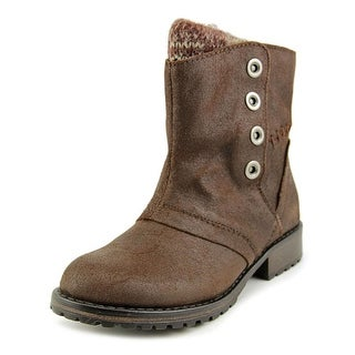 Nine West Rocked Round Toe Leather Mid Calf Boot