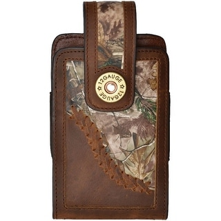 Justin Cell Phone Case Leather Smartphone Realtree Inlay Brown JWPH002