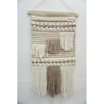 Cotton Wall Hanging Accented Macrame - Exact Size