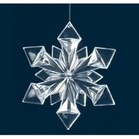 "4.75"" Icy Crystal Clear Snowflake Christmas Ornament"