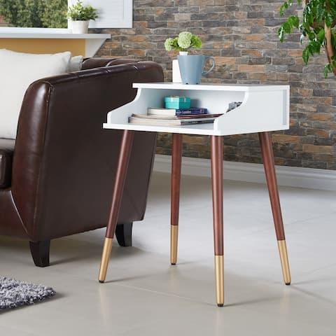 Furniture of America Jeri Mid-Century Modern 20-inch 1-shelf Side Table