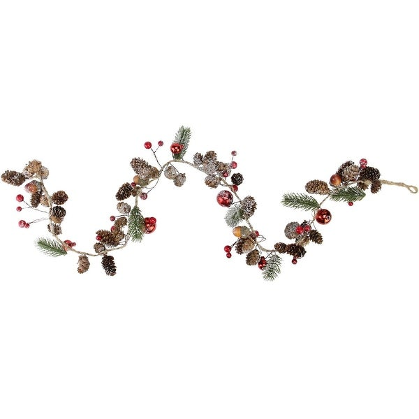 """39.5"""" Holiday Moments Pine Cones and Berries Winter Foliage Christmas Twig Garland - Unlit"""