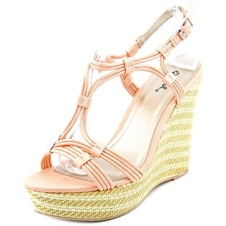 Qupid Clemence-92 Women Open Toe Synthetic Wedge Sandal