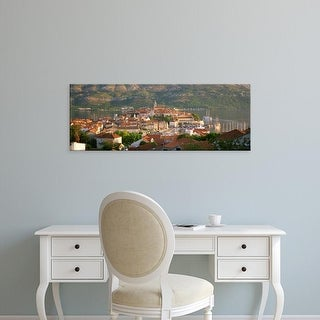 Easy Art Prints Panoramic Images's 'Croatia, Korcula, Korcula Island, City on the waterfront' Premium Canvas Art