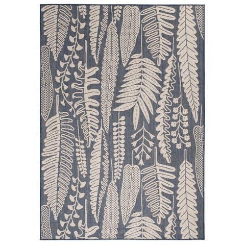 GAD Great American Distributors Peter Leaf-Themed Floral Design Indoor Outdoor Area Rug