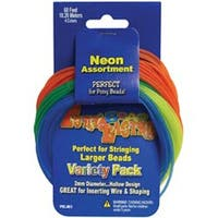 Neon Colors - Pony Bead Lacing Variety Pack 60'