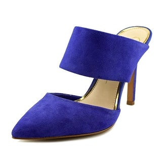 Jessica Simpson Chandra Women Pointed Toe Synthetic Blue Mules