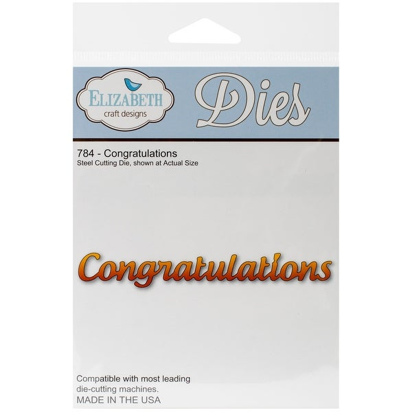 "Elizabeth Craft Metal Die-Congratulations, .62""X4"""
