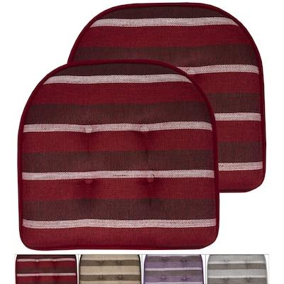 Bradford Striped U Shaped Memory Foam Chair Pad