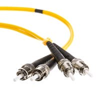 Fiber Optic Cable, ST / ST, Singlemode, Duplex, 9/125, 15 meter (49.2 foot)