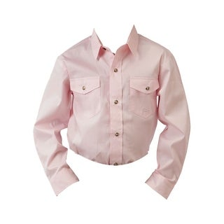 Roper Western Shirt Boys L/S Extra Long Tail Pink