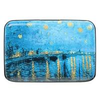 Women's Fine Art Identity Protection RFID Wallet - Starry River - Medium