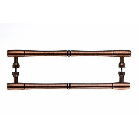 """Top Knobs M856-12pair Nouveau Collection 12"""" Center to Center Old English Copper Bamboo Back to Back Door Pull Pair -"""