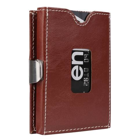 Minimalist Tri Fold Genuine Leather RFID Blocking 10 Card Slot Wallet