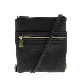 Stella & Max Womens Still The One Faux Leather Accordion Crossbody Handbag - Floral - SMALL