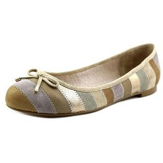 Nina Penny Women Round Toe Leather Flats