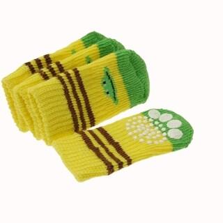 Unique Bargains Cotton Puppy Socks with Banana Pattern 7.0 x 3.0cm