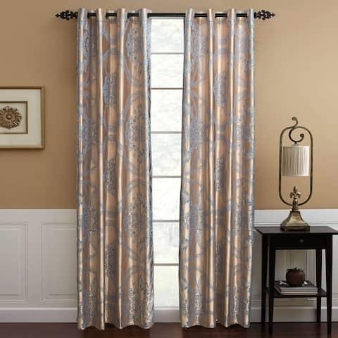 Curtains Damask Jacquard Grommet Semi-Blackout, Tall 60x100
