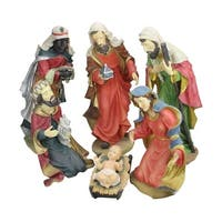 "6-Piece Large Scale Holy Family and Three Kings Religious Christmas Nativity Statues 19"" - Multi"