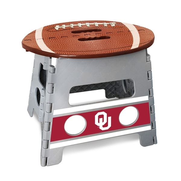 "14"" Gray and Brown NCAA Oklahoma Sooners Folding Step Stool - N/A"
