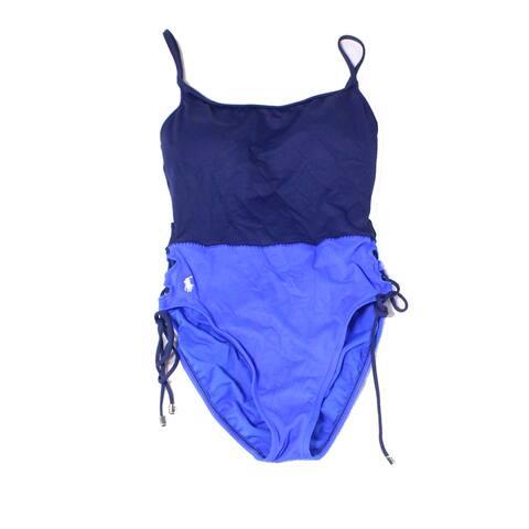 Polo Ralph Lauren Blue Womens Size Small S One-Piece Swimwear