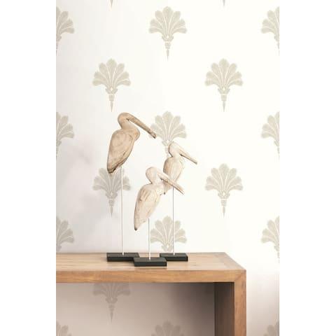 Seabrook Designs Beach House Summer Fan Unpasted Wallpaper
