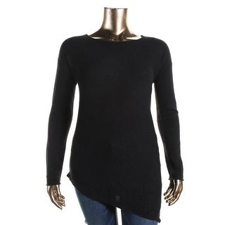 Private Label Womens Cashmere Asymmetric-Hem Sweater