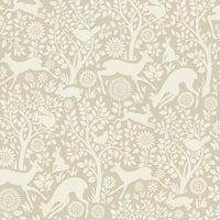 Brewster HAS01236 Anahi Neutral Forest Fauna Wallpaper - neutral forest - N/A