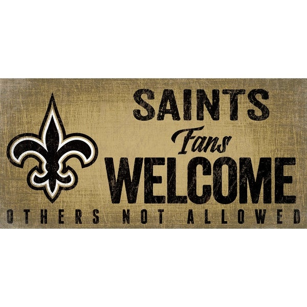 New Orleans Saints Wood Sign Fans Welcome 12x6. Opens flyout.