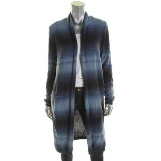 LRL Lauren Jeans Co. Womens Duster Sweater Ombre Open Front - l
