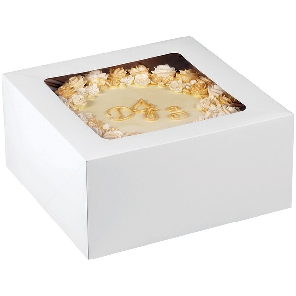 "Corrugated Cake Boxes-2/Pkg 12""X12""X6"""