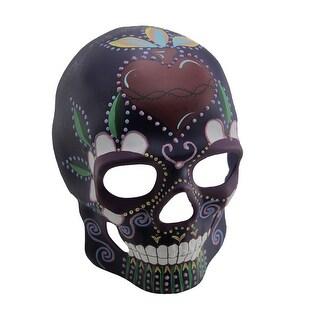 Colorful Glow In The Dark Full Face Sugar Skull Mask