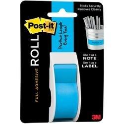 """Mediterranean Blue - Post-It Full Adhesive Roll 1""""X400"""""""