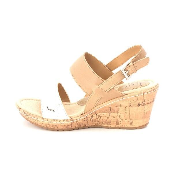 B.O.C Womens Olivia Leather Open Toe Casual Platform Sandals