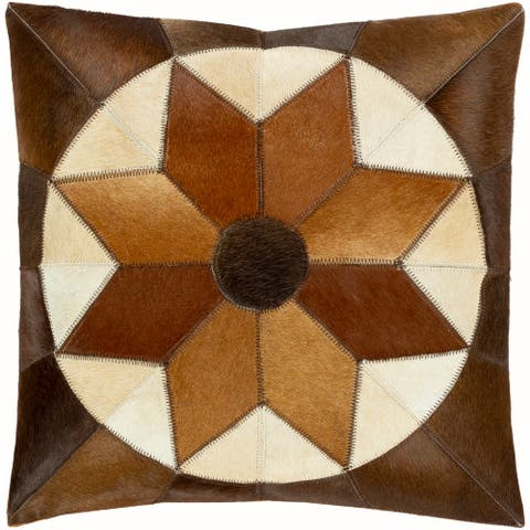 Hinson Leather Hair-on-hide Throw Pillow