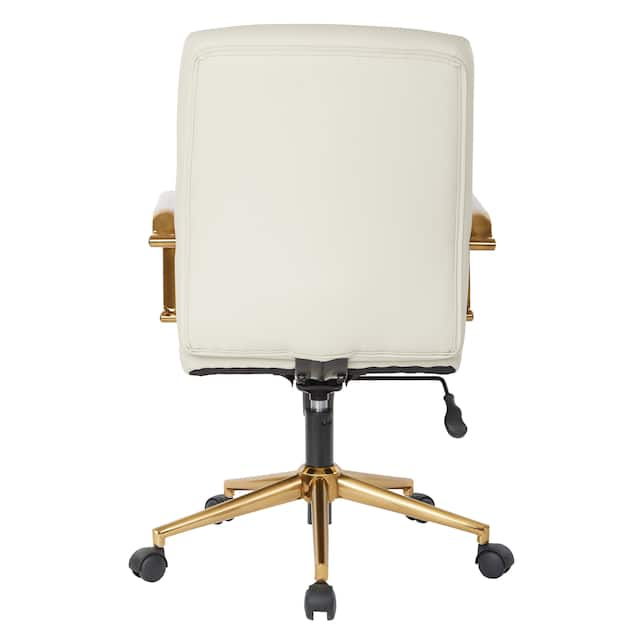 Baldwin Mid-Back Faux Leather Chair