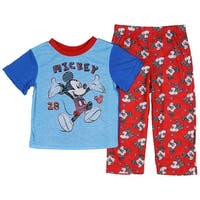 Disney Mickey Mouse Little Boys' Toddler Scribble Art 2-Piece Pajama Set