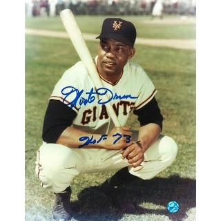 "Monte Irvin New York Baseball Giants Autographed 8x10 Photo Inscribed ""HOF 73"""
