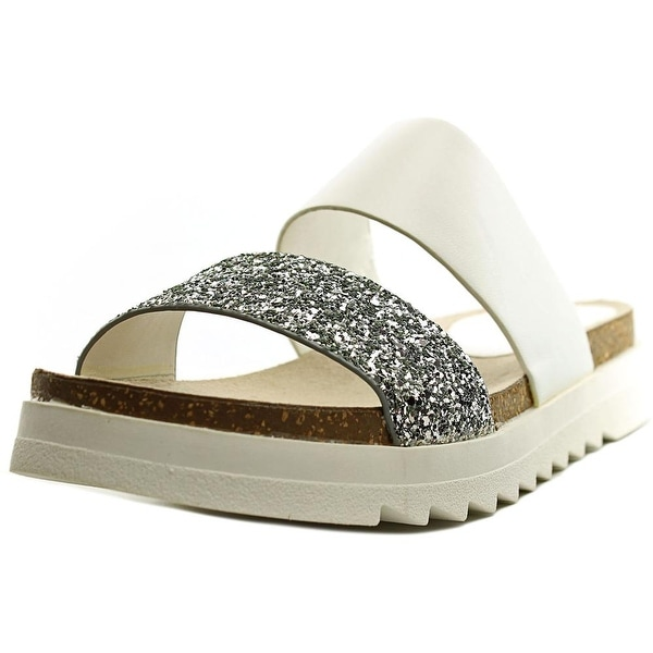 Seven Dials Midnight Women Open Toe Synthetic White Slides Sandal