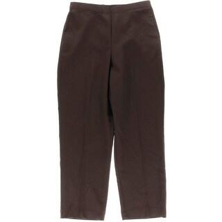 Alfred Dunner Womens Social Circle Straight Leg Pull On Dress Pants - 8