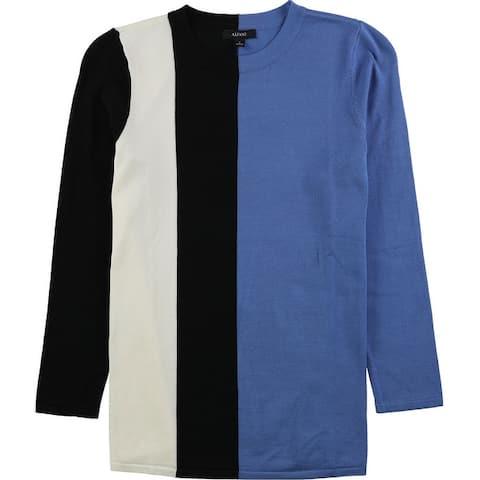 Alfani Womens Vertical Colorblock Basic T-Shirt
