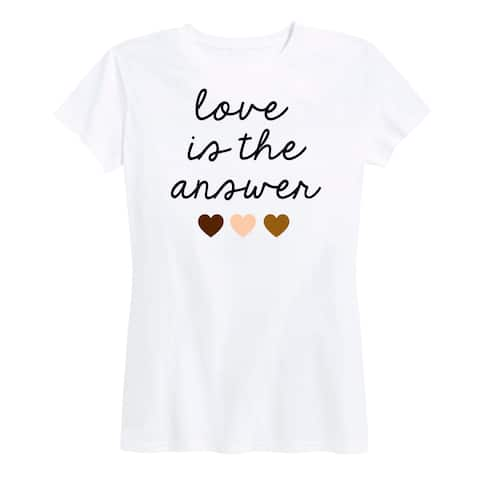 Love Is The Answer - Women's Short Sleeve Classic Fit Tee