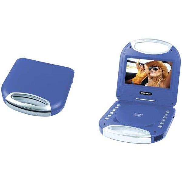 Sylvania Portable DVD Player with Integrated Handle, Blue - 7 in.
