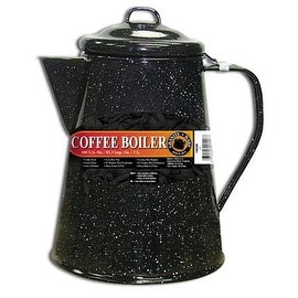 Columbian Home 6006 Granite Ware Coffee Boiler, 100 Oz, Black
